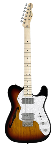GUITARRA FENDER 72S TELE THINLINE 013-7402-300 3-COLOR SUNBURST