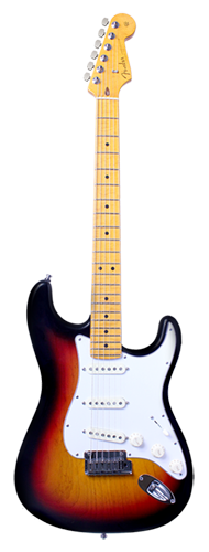 GUITARRA FENDER STRATOCASTER ASH CUSTOM DELUXE AAA FLAME MAPLE 923-9500-800 3-COLOR SUNBURST