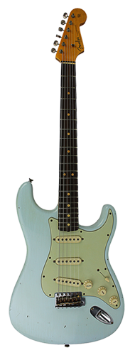 GUITARRA FENDER 63 STRATOCASTER JOURNEYMAN RELIC 923-0020-872 FADED SONIC BLUE