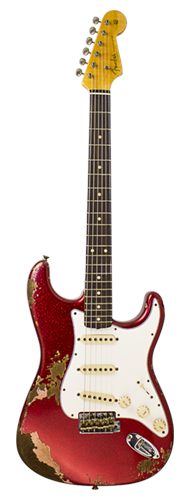GUITARRA FENDER 60S STRATOCASTER HEAVY RELIC CUSTOM BUILT 923-1008-522 RED SPARKLE