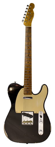 GUITARRA FENDER LTD TELECASTER ROASTED FRETBOARD RELIC CUSTOM BUILT 923-9822-806 AGED BLACK