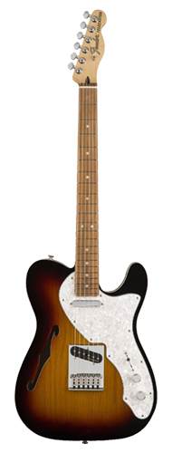 GUITARRA FENDER DELUXE TELE THINLINE PAU FERRO 014-7603-300 3-COLOR SUNBURST