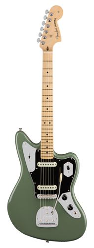 GUITARRA FENDER AM PROFESSIONAL JAGUAR MN 011-4012-776 ANTIQUE OLIVE