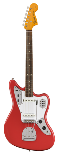 GUITARRA FENDER 60S JAGUAR LACQUER PF 014-1233-740 FIESTA RED