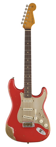 GUITARRA FENDER 59 STRATOCASTER HEAVY RELIC LTD EDITION 923-5000-484 AGED FIESTA RED