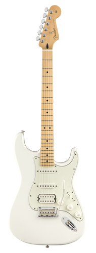 GUITARRA FENDER PLAYER STRATOCASTER HSS MN 014-4522-515 POLAR WHITE