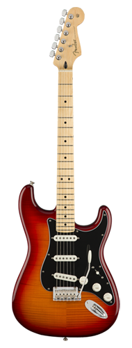GUITARRA FENDER PLAYER STRATOCASTER PLUS TOP MN 014-4552-531 AGED CHERRY BURST
