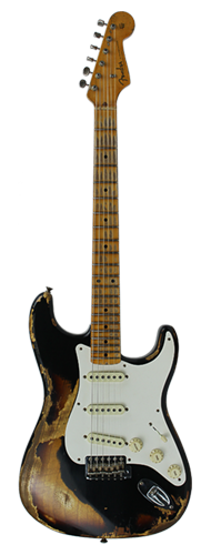 GUITARRA FENDER 57 STRATOCASTER HEAVY RELIC LTD EDITION 923-1009-548 BLACK OVER 2-TSB