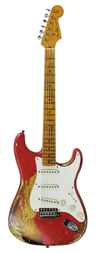 GUITARRA FENDER 57 STRATOCASTER HEAVY RELIC LTD EDITION 923-1009-551 FIESTA RED OVER 2-TSB