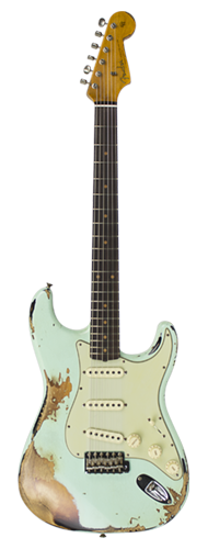 GUITARRA FENDER 62 STRATOCASTER HEAVY RELIC LTD EDITION 923-1009-561 SURF GREEN OVER 3-TSB