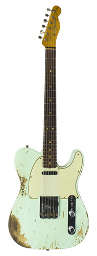 GUITARRA FENDER 63 TELECASTER COMPOUND RADIUS LTD EDITION 923-1009-524 S.FADED AGED SURF GREE