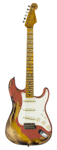 GUITARRA FENDER 57 STRATOCASTER HEAVY RELIC LTD EDITION 923-1009-549 TAHITIAN CORAL OVER 2-TS