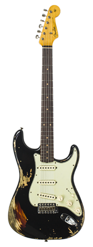 GUITARRA FENDER 62 STRATOCASTER HEAVY RELIC LTD EDITION 923-1009-559 BLACK OVER 3-TSB