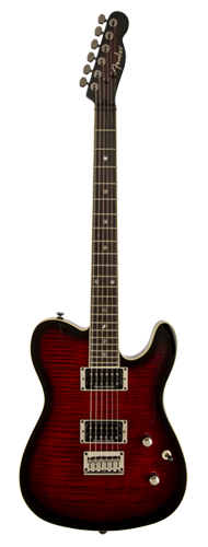 GUITARRA FENDER CUSTOM TELECASTER FMT HH 026-2004-561 BLACK CHERRY BURST