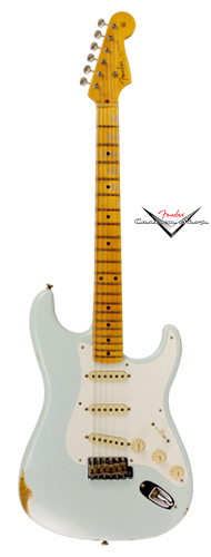 GUITARRA FENDER 56 STRATOCASTER HEAVY RELIC LTD EDITION 151-0056-872 FADED SONIC BLUE