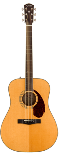 VIOLÃO FENDER PARAMOUNT DREADNOUGHT PM-1E STANDARD C/ CASE 097-0312-321 ALL SOLID NATURAL