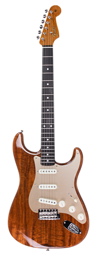 GUITARRA FENDER STRATOCASTER ARTISAN KOA TOP ROASTED OKOUME BODY 923-5000-580 NATURAL