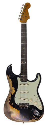 GUITARRA FENDER 60/63 STRATOCASTER SUPER HEVY RELIC LTD ED 923-1011-936 AGED BLACK OVER 3-TS