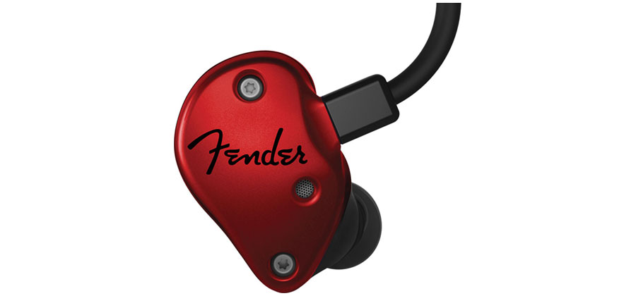 PROFESSIONAL IN-EAR MONITOR FENDER 688-4000-000 - FXA6 - RED