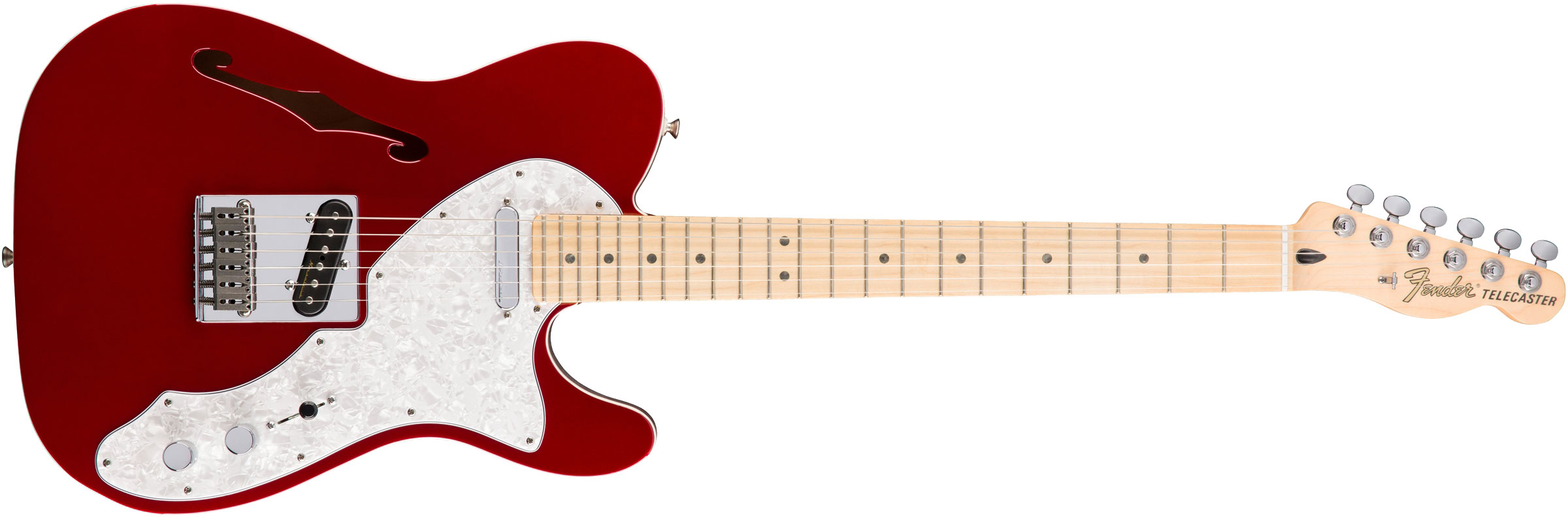 GUITARRA FENDER DELUXE TELE THINLINE MN 014-7602-309 CANDY APPLE RED
