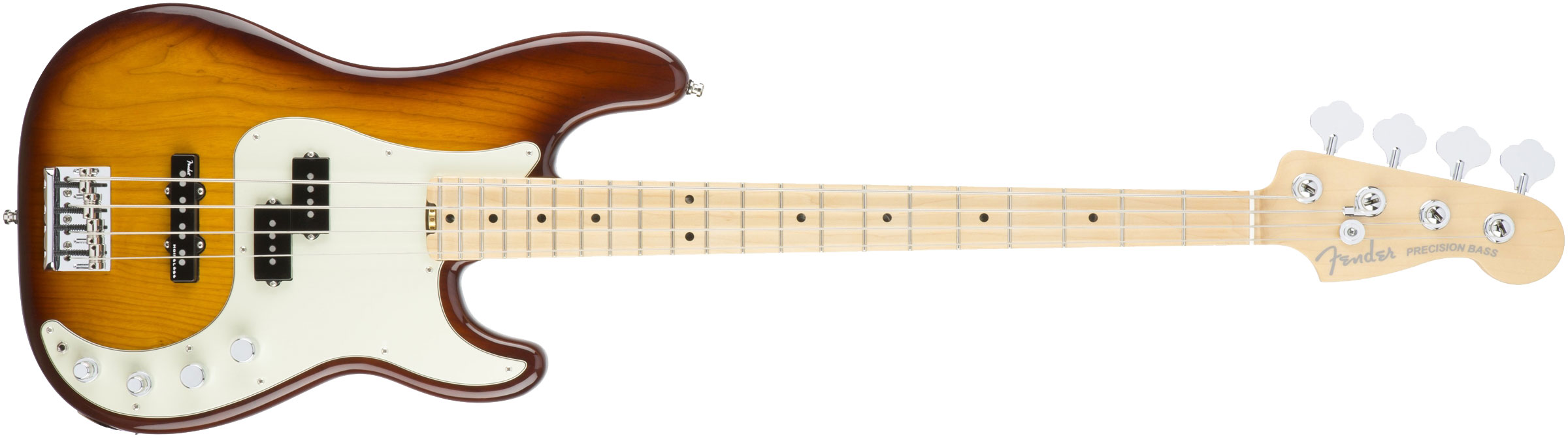 CONTRABAIXO FENDER AM ELITE PRECISION BASS ASH MAPLE 019-6902-752 TOBACCO SUNBURST