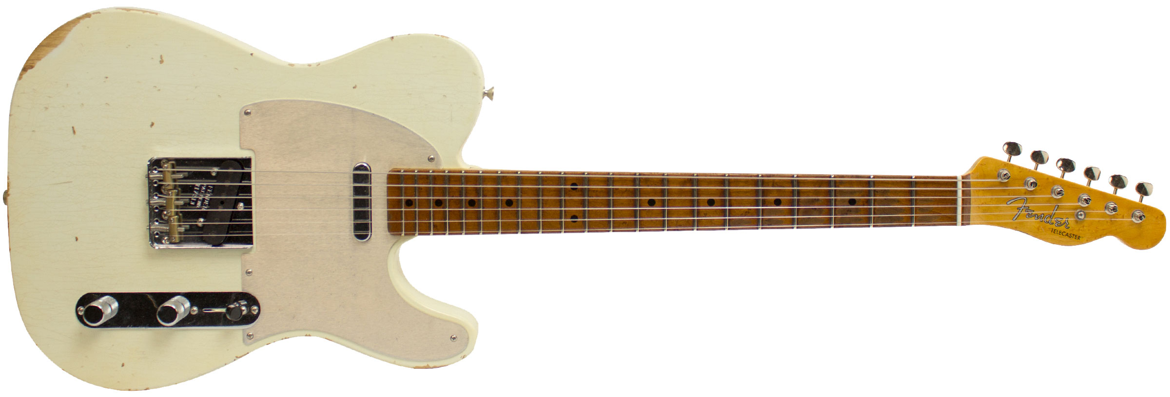 GUITARRA FENDER TELECASTER ROASTED FRETBOARD RELIC C. BUILT 923-9822-805 AGED OLYMPIC WHITE